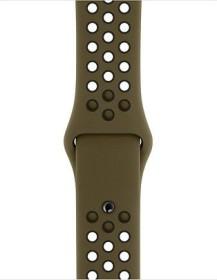 Apple Nike Sportarmband S/M und M/L für Apple Watch 40mm olivgrün/schwarz (MTMV2ZM/A)