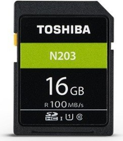 Toshiba High Speed N203 R100 SDHC 16GB, UHS-I U1, Class 10 (THN-N203N0160E4)