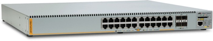 Allied Telesis x610 Rackmount Gigabit Managed Stack Switch, 20x RJ-45, 4x RJ-45/SFP, PoE+ (AT-X610-24Ts-POE+/990-003200)