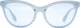 Ray-Ban RB3447 Round Metal 50mm brushed bronze/blue mirror (RB3447-167/68)