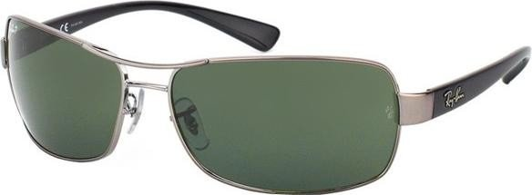 Ray-Ban RB3379 64mm gunmetal-black/polarized green (004/58) -- ©Glasses&Co