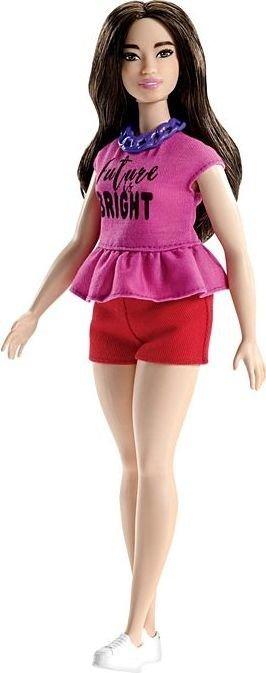 Mattel Barbie Fashionistas 98 with Long Dark Waves Curvy (FJF58)