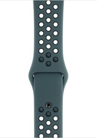 Apple Nike Sportarmband S/M und M/L für Apple Watch 44mm Celestial Teal/schwarz (MTP32ZM/A)