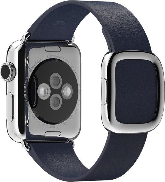 Apple modernes Lederarmband Small für Apple Watch 38mm blau (MJ5A2ZM/A)