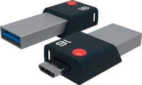 Emtec Mobile & Go 16GB, USB-A 3.0/USB 2.0 Micro-B (ECMMD16GT203)