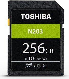 Toshiba High Speed N203 R100 SDXC 256GB, UHS-I U1, Class 10 (THN-N203N2560E4)