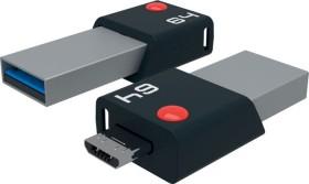 Emtec Mobile & Go 64GB, USB-A 3.0/USB 2.0 Micro-B (ECMMD64GT203)