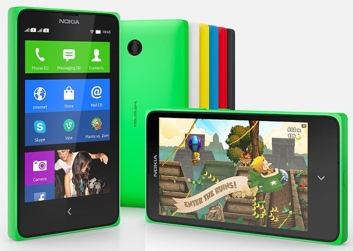 Nokia X gelb