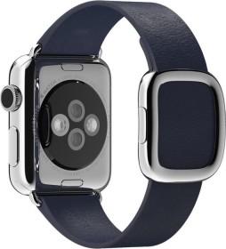 Apple modernes Lederarmband Medium für Apple Watch 38mm blau (MJ5C2ZM/A)