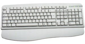 KeySonic ACK-201AR Fullsize Keyboard, PS/2, DE