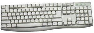 KeySonic ACK-230 Fullsize keyboard biały, PS/2, DE