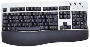 KeySonic ACK-260AR Fullsize keyboard, PS/2, DE