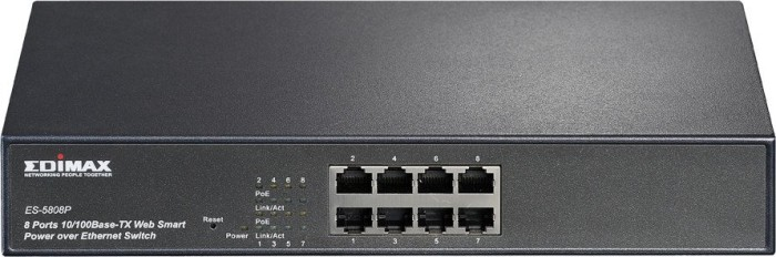 Edimax ES-50 Desktop Smart Switch, 8x RJ-45, PoE (ES-5808P)