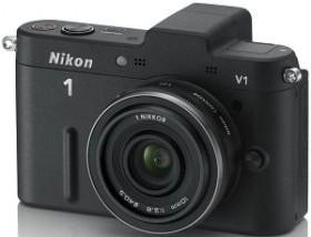 Nikon 1 V1 schwarz mit Objektiv 10mm 2.8 (VVA101K002)