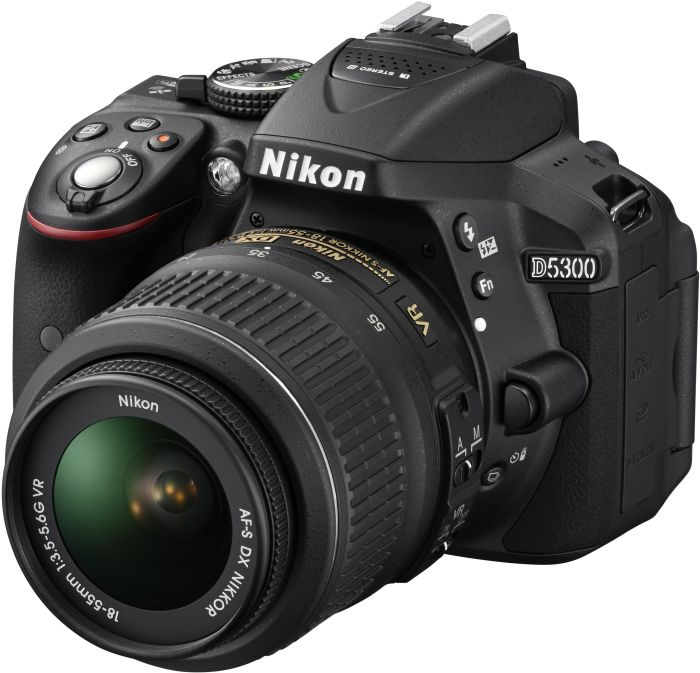 Nikon D5300 black with lens AF-S DX 18-55mm 3.5-5.6G VR II (VBA370K003)