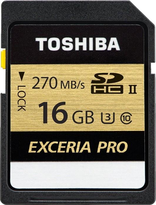 Toshiba Exceria Pro N501 R270/W250 SDHC 16GB, UHS-II U3, Class 10 (THN-N501G0160E6)