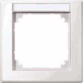 Merten System M M-SMART Rahmen 1fach Thermoplast brillant, polarweiß (470119)
