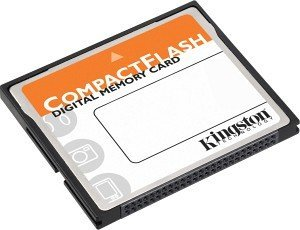 Kingston CompactFlash Card (CF) 128MB with adapter (CF/128ADP)