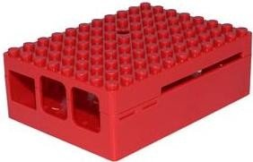 Multicomp Pi-Blox Raspberry Pi Gehäuse für Pi 2/3/B+, rot (CBPIBLOX-RED)