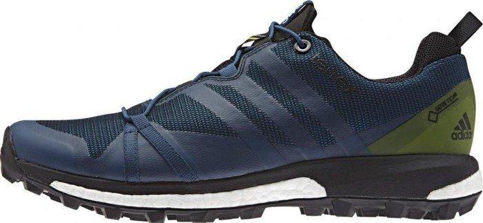 Adidas terrex agravic gtx tech acciaio / craft blu / unità di calce (mens