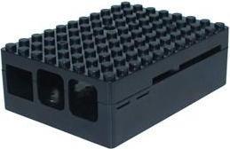 Multicomp Pi-Blox Raspberry Pi Gehäuse für Pi 2/3/B+, schwarz (CBPIBLOX-BLK)