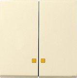 Gira System 55 Wippe 2fach, cremeweiß glänzend (0631 01)