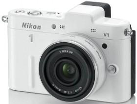 Nikon 1 V1 weiß mit Objektiv 10mm 2.8 (VVA102K002)