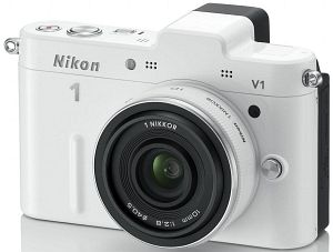 Nikon 1 V1 white with lens 10mm 2.8 (VVA102K002)