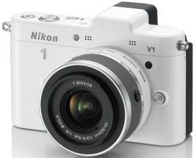 Nikon 1 V1 weiß mit Objektiv VR 10-30mm 3.5-5.6 (VVA102K001)