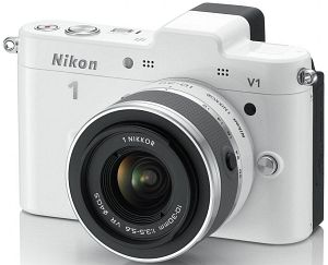 Nikon 1 V1 (EVIL) white with lens VR 10-30mm 3.5-5.6 (VVA102K001)