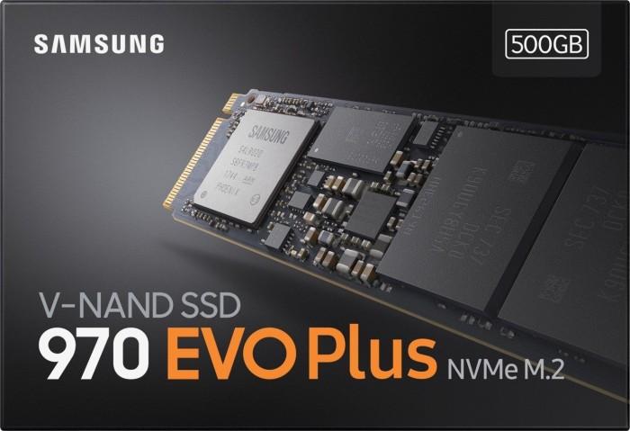 Samsung 970 EVO Plus 500GB Internal PCIe 3.0 x 4 NVMe Solid State Drive SSD
