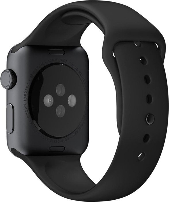 Apple Sportarmband für Apple Watch 42mm schwarz (MJ4N2ZM/A)