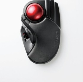 Elecom HUGE M-HT1DRBK Wireless Trackball, Rechtshänder, USB