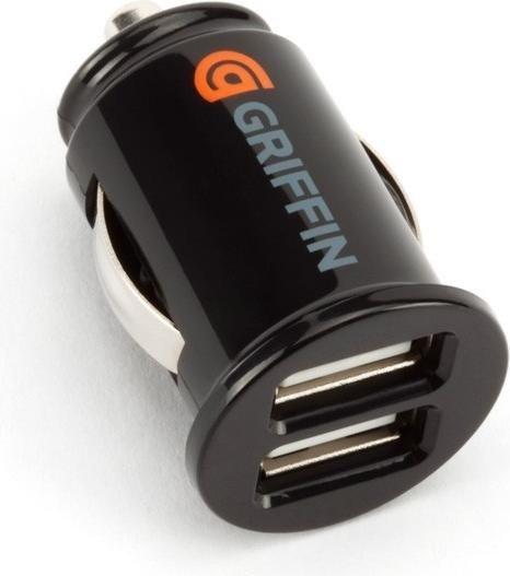 Griffin PowerJolt Dual Universal Micro 5 Watt Autoladegerät schwarz