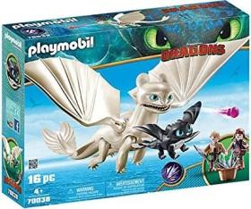 playmobil Dragons - Light Fury mit Babydrachen und Kindern (70038)