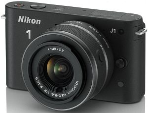 Nikon 1 J1 black with lens VR 10-30mm 3.5-5.6 (VVA15