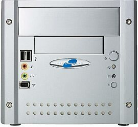 Shuttle XPC SS50 Mini-Barebone system aluminium (Socket 478/400/PC2100 DDR)