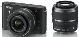 Nikon 1 J1 schwarz mit Objektiv VR 10-30mm 3.5-5.6 und VR 30-110mm 3.8-5.6 (VVA151K003)