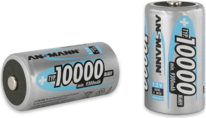 Ansmann Mono D NiMH rechargeable battery 10000mAh, 2-pack (5030642) -- via Amazon Partnerprogramm