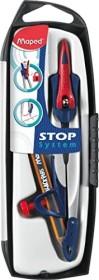 Maped Stop System Zirkel mit Adapterring, Bleistift, farbig sortiert (M196510)