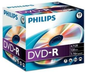 Philips DVD-R 4.7GB 16x, 10er Jewelcase (DM4S6J10C)