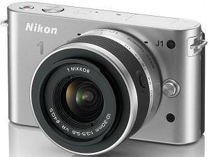 Nikon 1 J1 (EVIL) silver with lens VR 10-30mm 3.5-5.6 (VVA154K001)