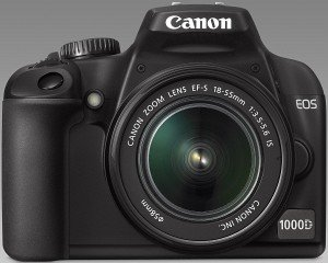 Canon EOS 1000D black with lens EF-S 18-55mm 3.5-5.6 IS (2766B014)