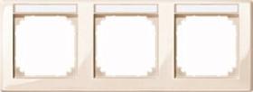 Merten System M M-SMART Rahmen 3fach waagrecht Thermoplast brillant, weiß (471344)