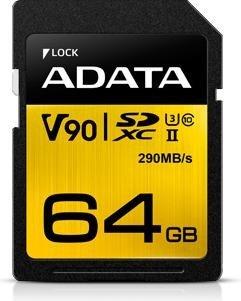 ADATA Premier ONE R290/W260 SDXC 64GB, UHS-II U3, Class 10 (ASDX64GUII3CL10-C)