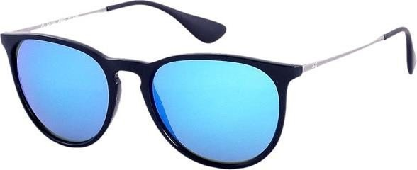 15c444f5d1363 Ray-Ban RB4171 Erika Color Mix 54mm schwarz-gunmetal blau verspiegelt (601