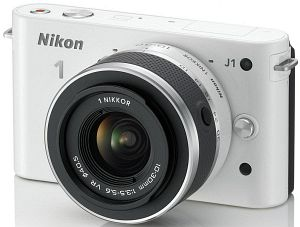 Nikon 1 J1 (EVIL) white with lens VR 10-30mm 3.5-5.6 (VVA152K001)
