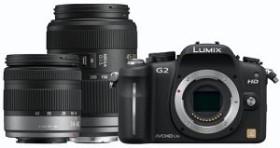 Panasonic Lumix DMC-G2 schwarz mit Objektiv Lumix G Vario 14-42mm OIS und 45-200mm OIS (DMC-G2W)