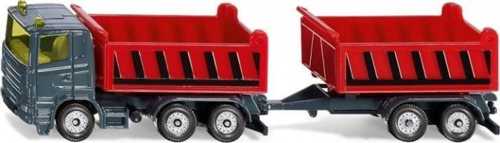 SIKU Truck with dumper body and tipping trailer (1685)