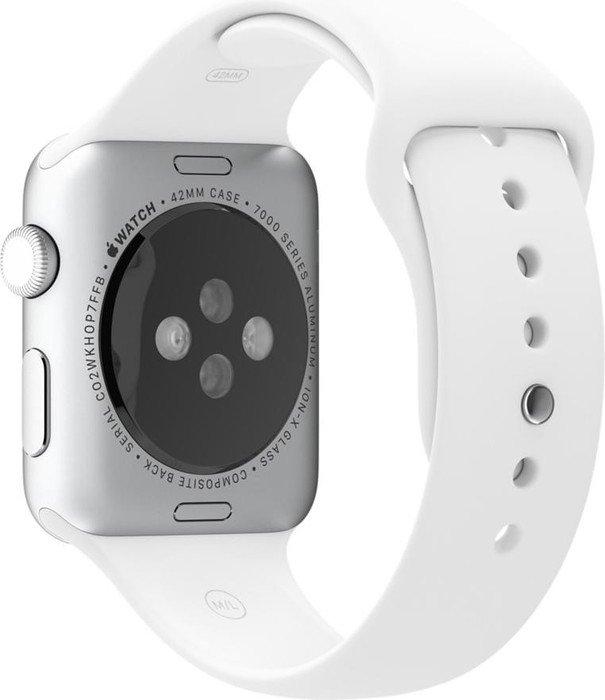Apple Sportarmband für Apple Watch 42mm weiß (MJ4M2ZM/A)